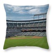 Oriole Park At Camden Yards Stadium Throw Pillow by Susan Candelario