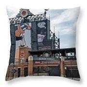 Oriole Park At Camden Yards Throw Pillow by Susan Candelario