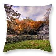 Orlean Puckett's Cabin Throw Pillow by Benanne Stiens