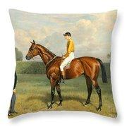Ormonde Winner Of The 1886 Derby Throw Pillow by Emil Adam