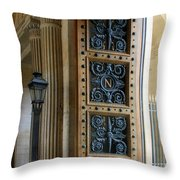 Ornate Door Throw Pillow by Andrew Fare