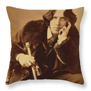 Oscar Wilde 1882 Throw Pillow by Napoleon Sarony