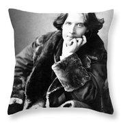 Oscar Wilde In His Favourite Coat 1882 Throw Pillow by Napoleon Sarony