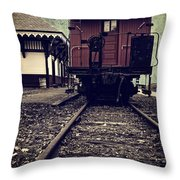 Other Side Of The Tracks Throw Pillow by Edward Fielding