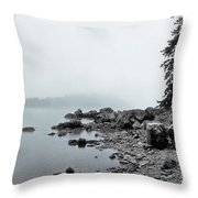 Otter Cliffs Throw Pillow by Joann Vitali