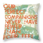 Our Perfect Companion Throw Pillow by Debbie DeWitt