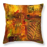 Out Back In His Workshop Throw Pillow by Angela L Walker