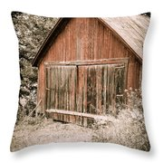 Out by the Woodshed Throw Pillow by Edward Fielding