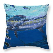 Out of the blue Off009 Throw Pillow by Carey Chen