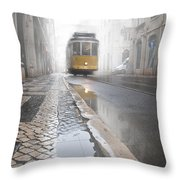 Out Of The Haze Throw Pillow by Jorge Maia
