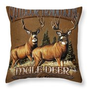 Outdoor Traditions Mule Deer Throw Pillow by JQ Licensing