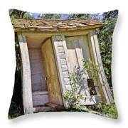 Outhouse For Two Throw Pillow by Sue Smith