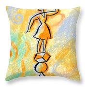 Outlook Throw Pillow by Leon Zernitsky