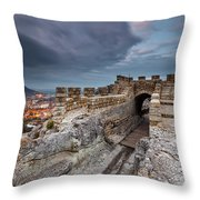 Ovech Fortress Throw Pillow by Evgeni Dinev