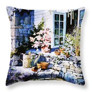 Over Sleepy Garden Walls Throw Pillow by Hanne Lore Koehler