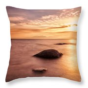Over the sea to Arran Throw Pillow by John Farnan