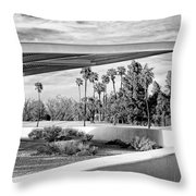 Overhang Bw Palm Springs Throw Pillow by William Dey