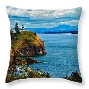 Overlooking Throw Pillow by Robert Bales