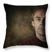 Overwhelmed... Throw Pillow by Sandra Cunningham