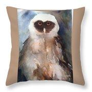 Owl Throw Pillow by Sherry Harradence