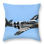 P-51 Mustang Fighter Throw Pillow by Puget  Exposure