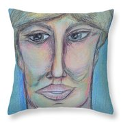 Pablo Throw Pillow by Donna Blackhall