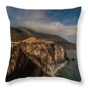 Pacific Coastal Highway Throw Pillow by Mike Reid