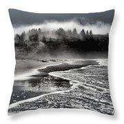 Pacific Island Fog Throw Pillow by Adam Jewell