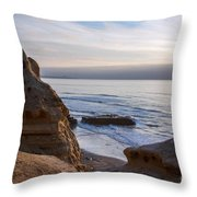 Pacific Ocean View From Above Cliffs Throw Pillow by Darleen Stry
