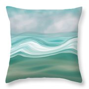 Pacific Paradise Throw Pillow by Bonnie Bruno