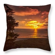 Pacific Sunset Throw Pillow by Robert Bales