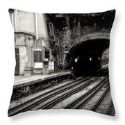 Paddington Grunge Throw Pillow by Joan Carroll
