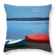 Paddle's End Throw Pillow by Barbara McMahon