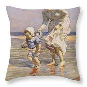 Paddling Throw Pillow by William Kay Blacklock