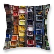 Paint Box Throw Pillow by Bernard Jaubert