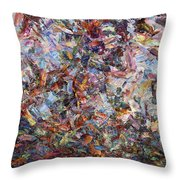 Paint Number 42 Throw Pillow by James W Johnson