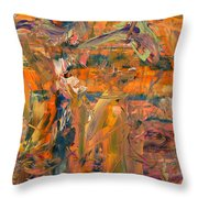 Paint Number 45 Throw Pillow by James W Johnson