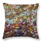 Paint Number 51 Throw Pillow by James W Johnson