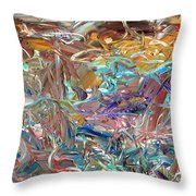 Paint number46 Throw Pillow by James W Johnson