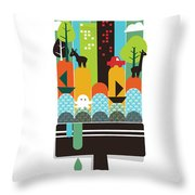 Paint Your World Throw Pillow by Budi Kwan