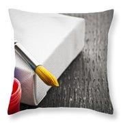 Paintbrush On Canvas Throw Pillow by Elena Elisseeva