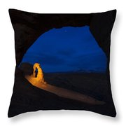 Painted Arch Throw Pillow by Dustin  LeFevre
