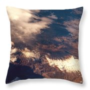 Painted Earth IIi Throw Pillow by Jenny Rainbow