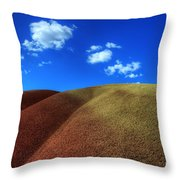 Painted Hills Blue Sky 1 Throw Pillow by Bob Christopher