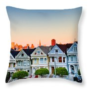 Painted Ladies Throw Pillow by Bill Gallagher