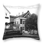 Pakkhuset Throw Pillow by Janet King