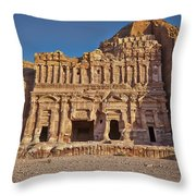 Palace Tombin Nabataean Ancient Town Petra Throw Pillow by Juergen Ritterbach