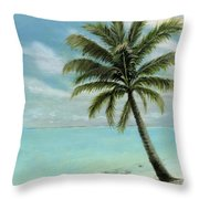 Palm Tree Study Throw Pillow by Cecilia Brendel