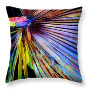 Palmetto Gone Wild Throw Pillow by Stephen Anderson