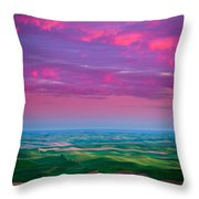 Palouse Fiery Dawn Throw Pillow by Inge Johnsson